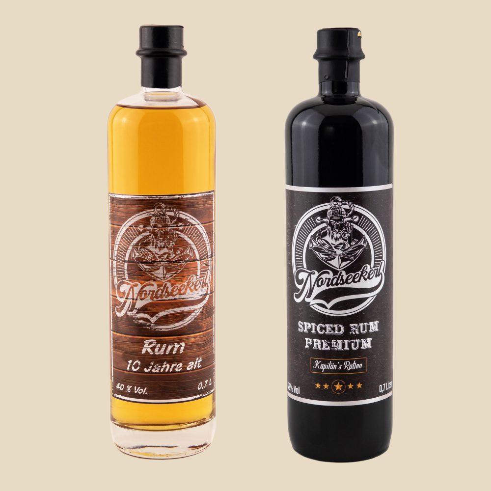 Nordseekerl Bundle- Produktbild- 2 Flaschen mit Nordseekerl Rum