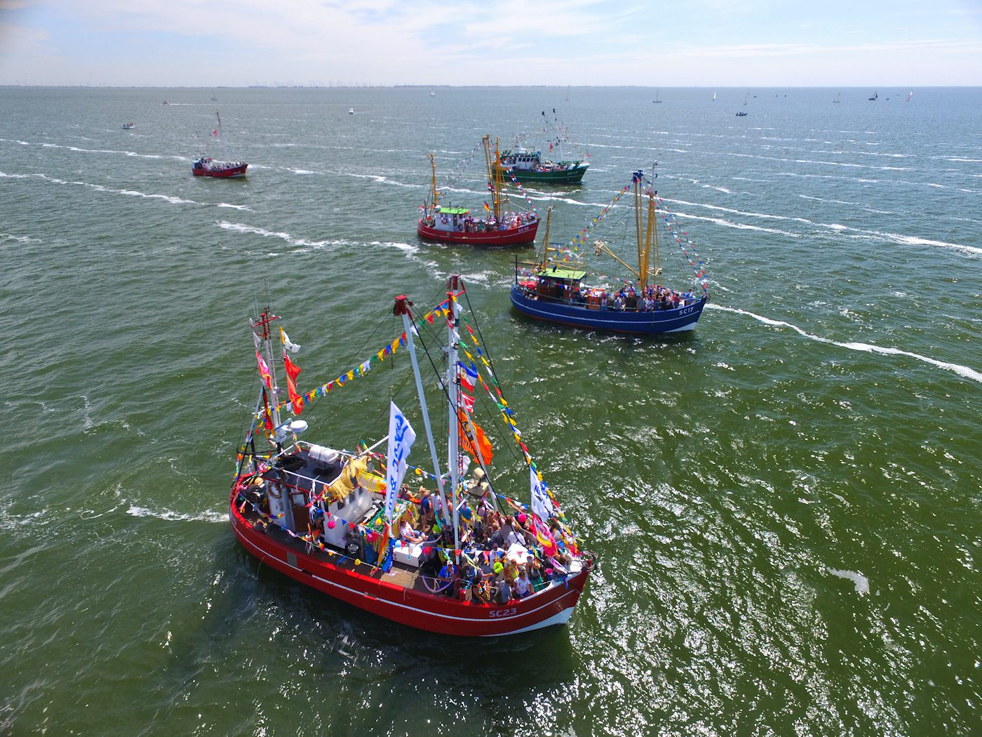 Nordseekerl-Kontakt-boote auf der Nordsee